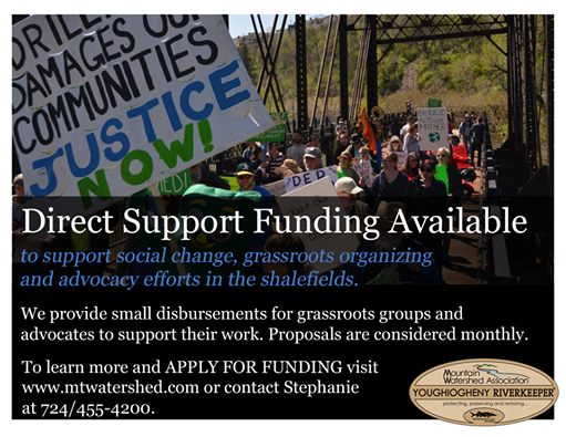 Direct Funding Available from Youghiogheny Riverkeeper