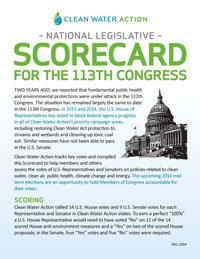 Scorecard - the 113th Congress - Fall 2014