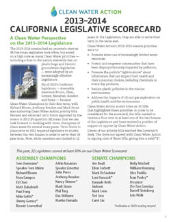 2013 - 2014 California Legislative Scorecard