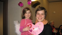 Photo: Rep. Kate Knuth with girl at 2010 Valentine's Day event