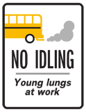 No idling sign, ver. 3