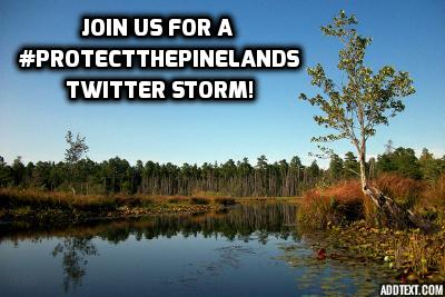 protect pinelands twitter storm