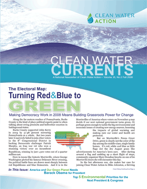 Clean Water Currents Fall 2008 cover