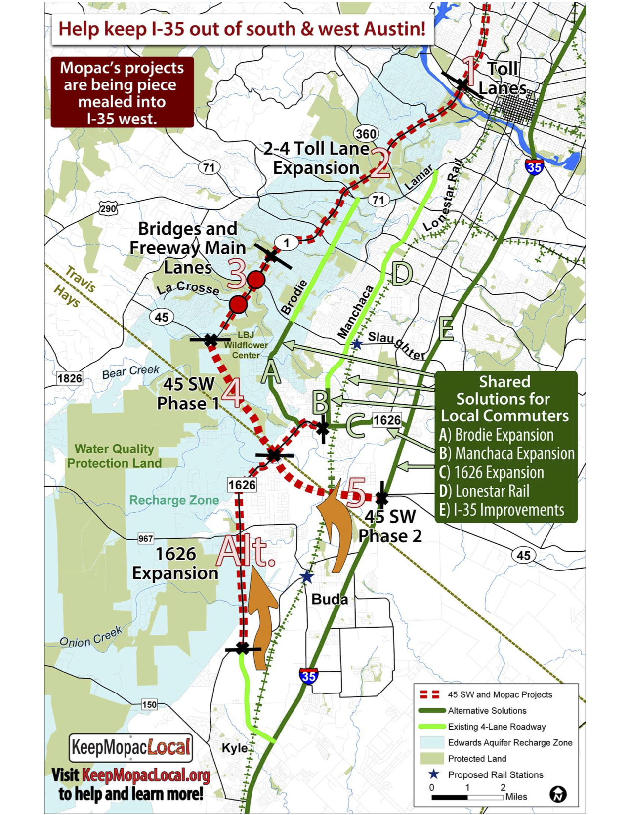 Map of Mopac expansion