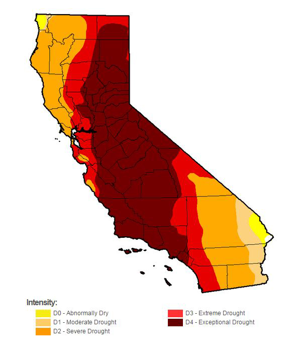 California Drought Map 2015