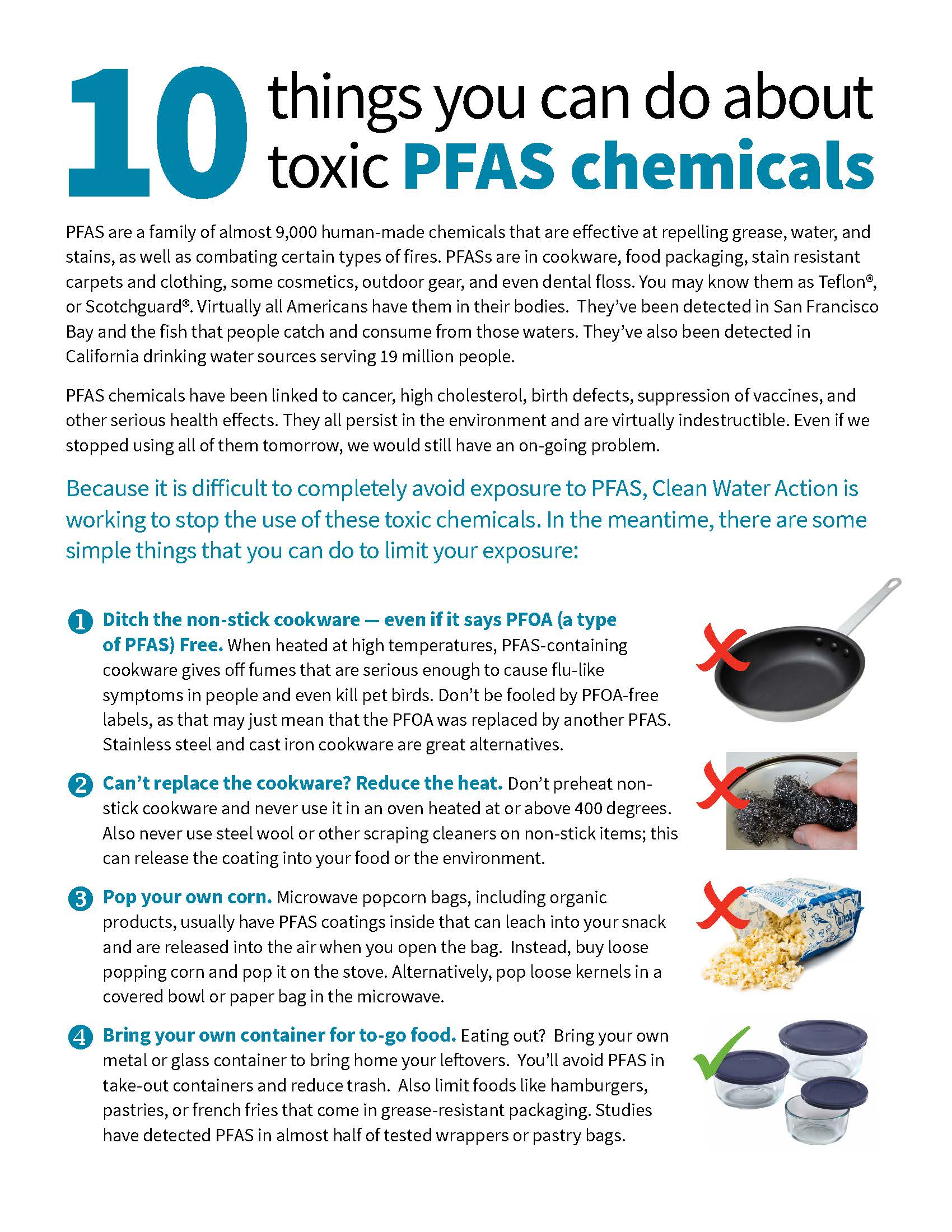 10 Ways You Can Take Action on Toxic PFAS