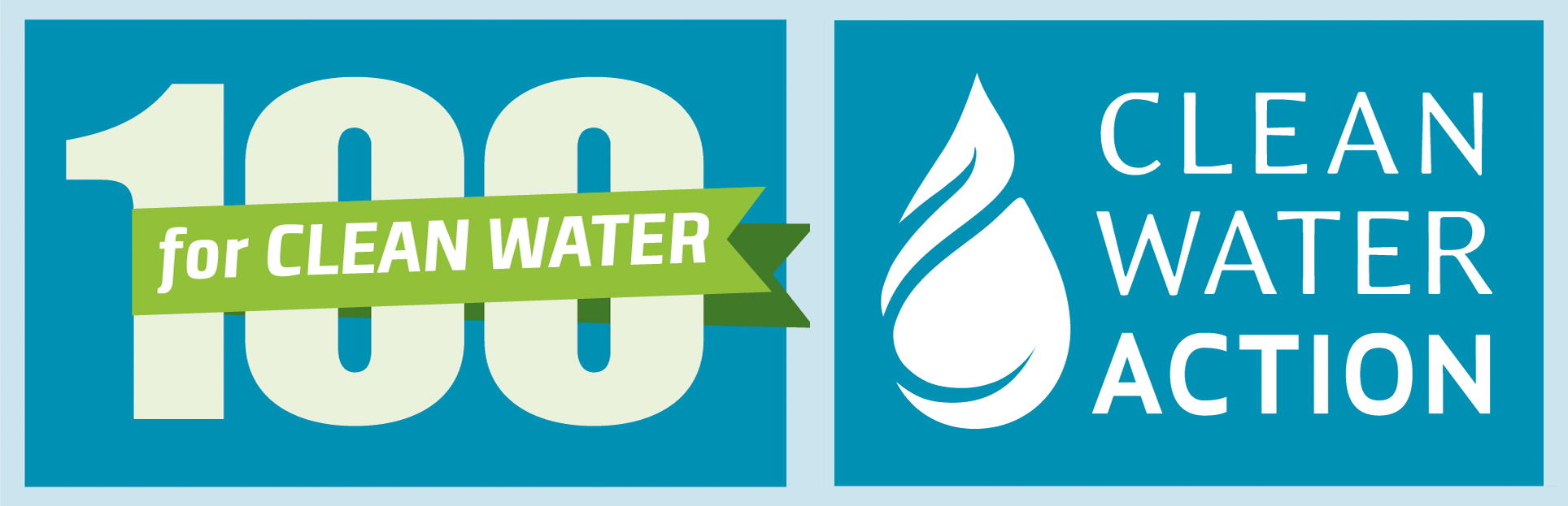 100 for Clean Water Logo