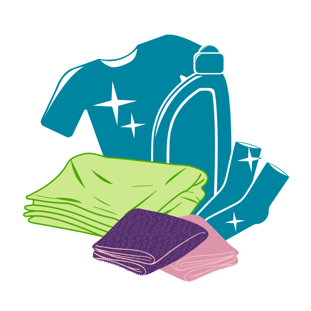 Scraps of cloth for cleaning