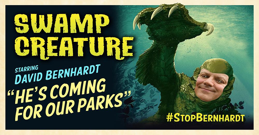 Bernhardt swamp creature poster