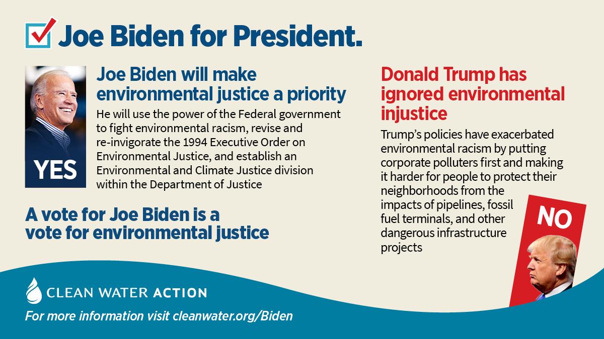 Graphic -- Joe Biden will make environmental justice a priority