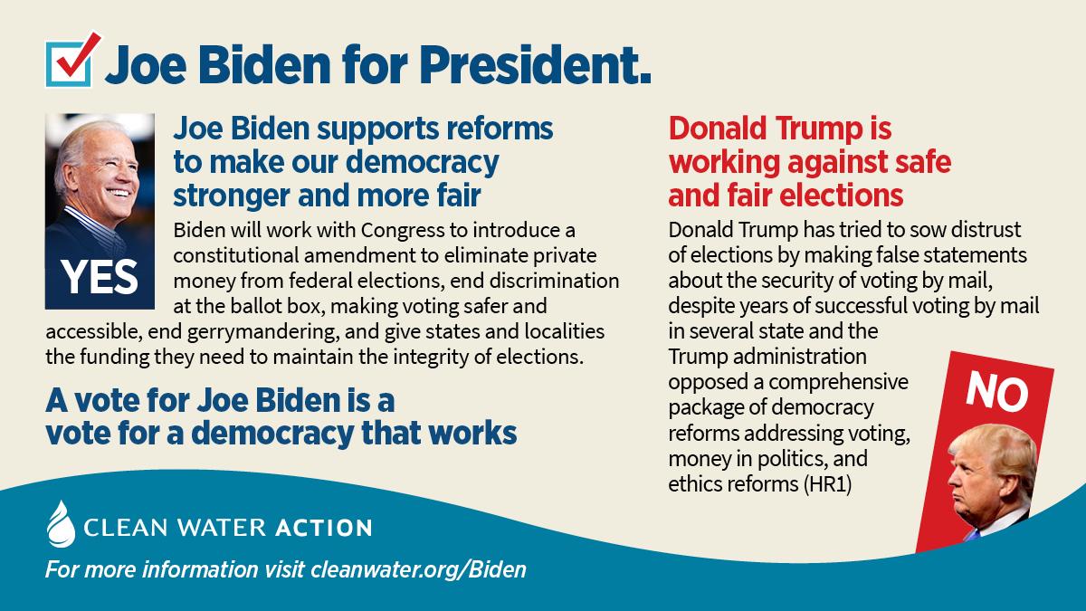 Graphic -- Joe Biden will work to strengthen our democracy
