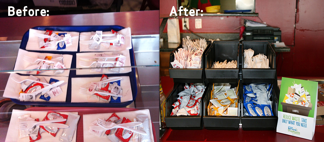 Before and After at Big G Burger