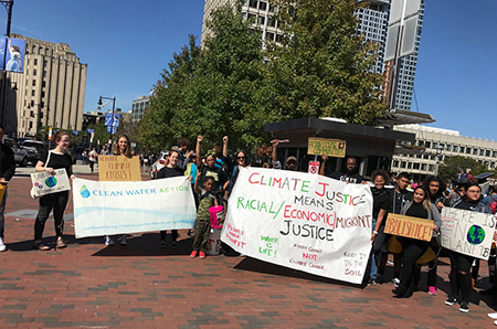Group at the Climate Strike in Boston