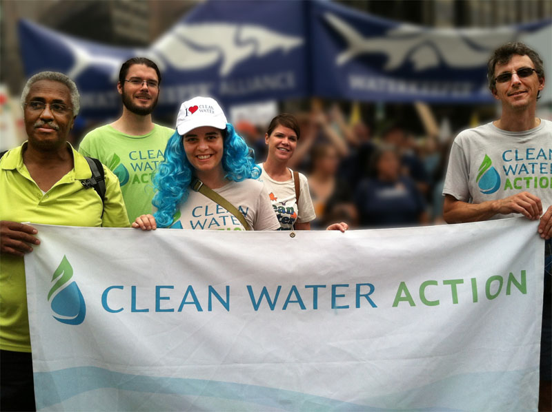 Clean Water staff and board at 2014 Cimate March in NYC. Photo credit: Clean Water Action
