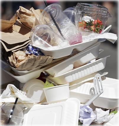 Disposable plastic waste