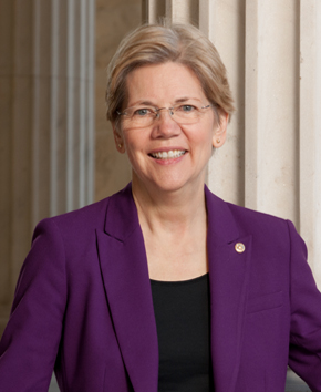 Senator Elizabeth Warren (D-MA). Courtesy of her office
