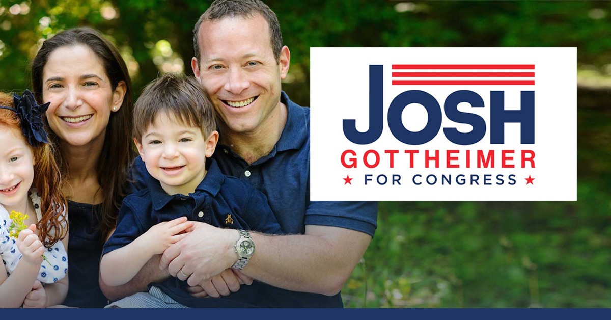 Josh Gottheimer for Congress. Election Photo.