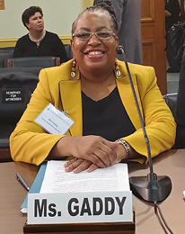 Kim Gaddy testifying in front of Congress