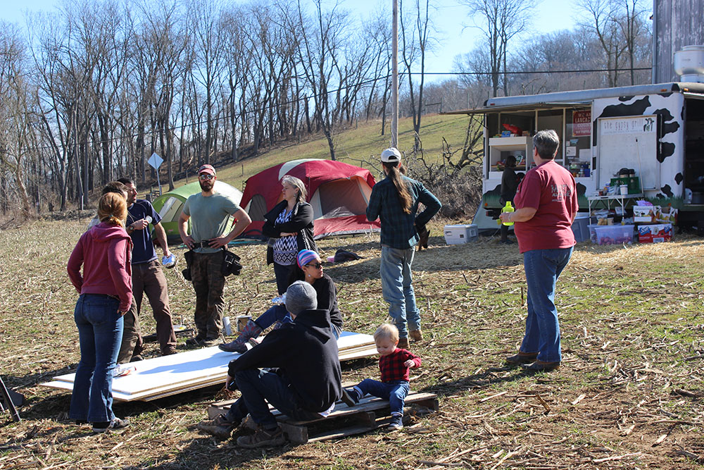 Lancaster Against Pipelines group at camp