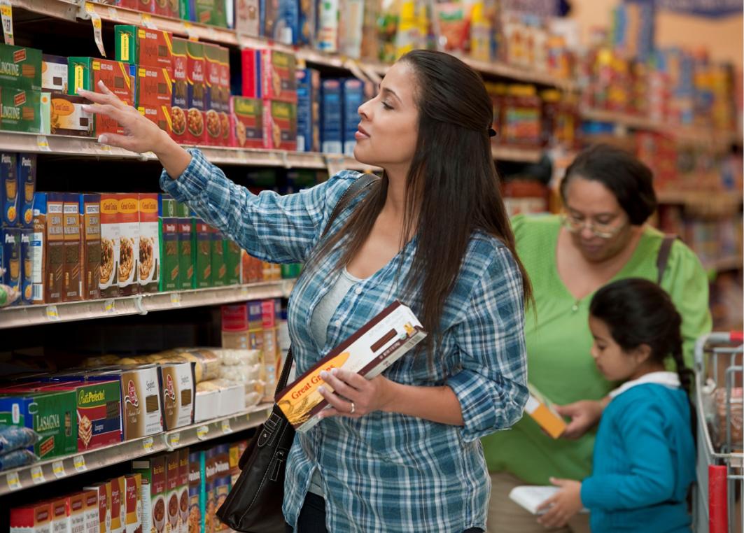 Women shopping at a market