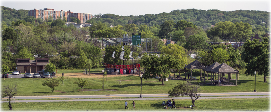 A park along the Anacostia