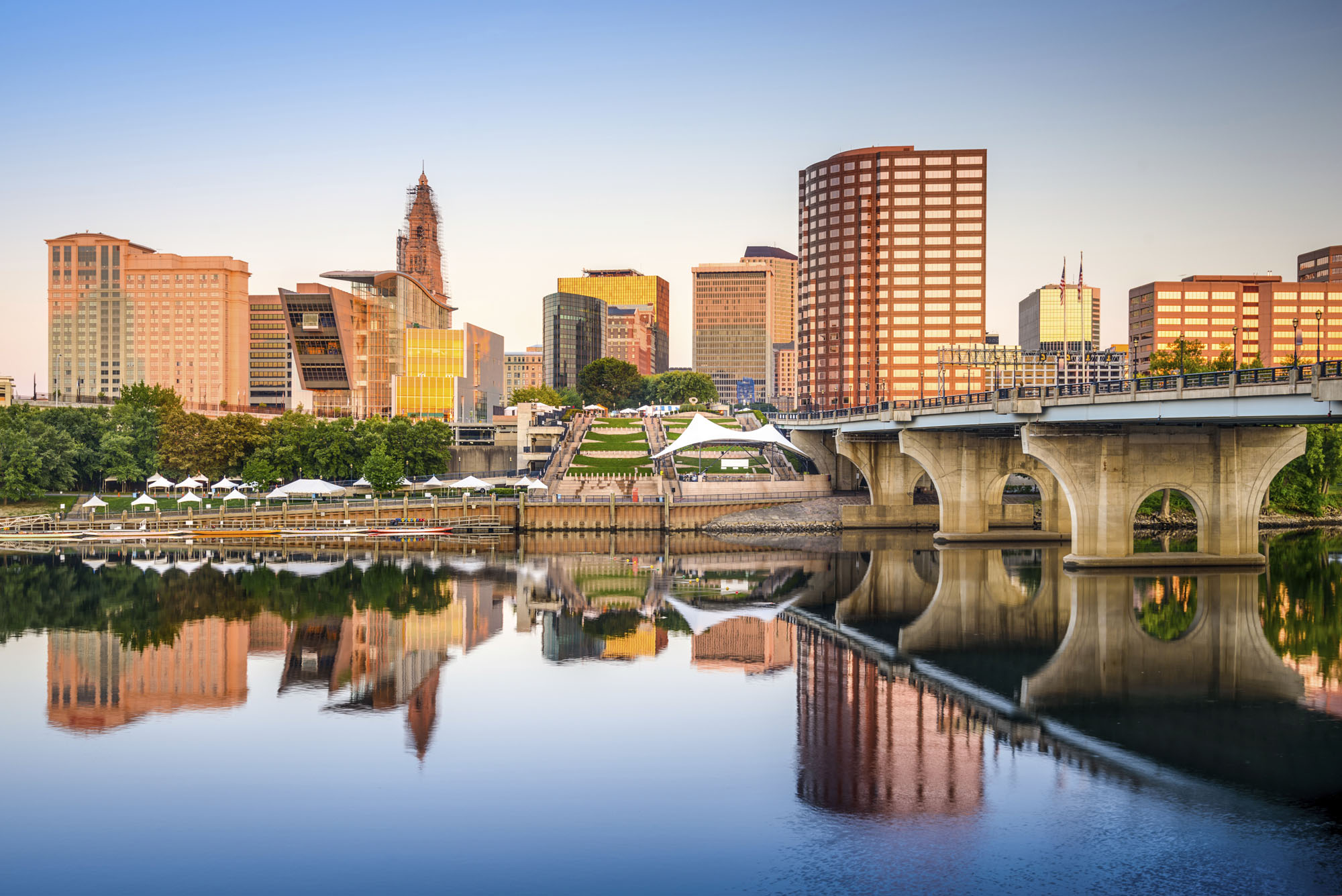 Hartford skyline and Connecticut River. Photo credit: Sean Pavone / iStock