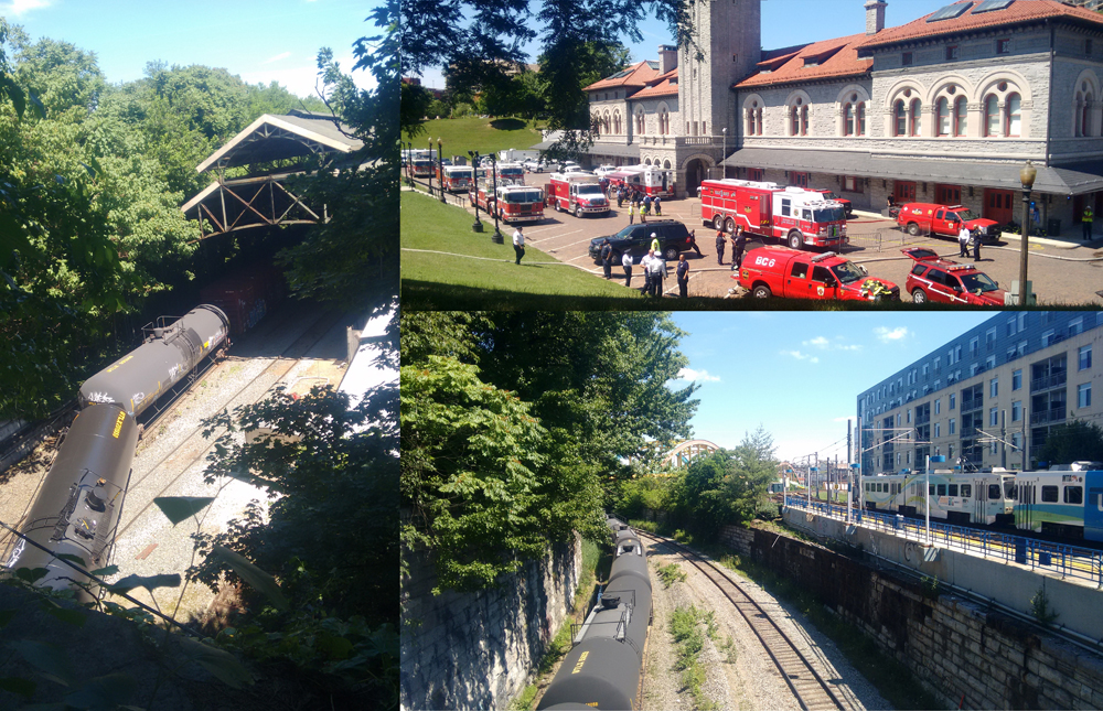 Images of the June Train Derailment in Baltimore. Credit - Jennifer Kunze / Clean Water Action
