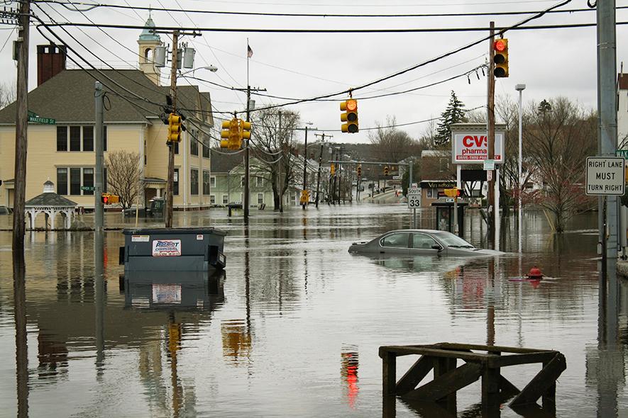 West Warwick Flood in 2010. Courtesy Weather.gov