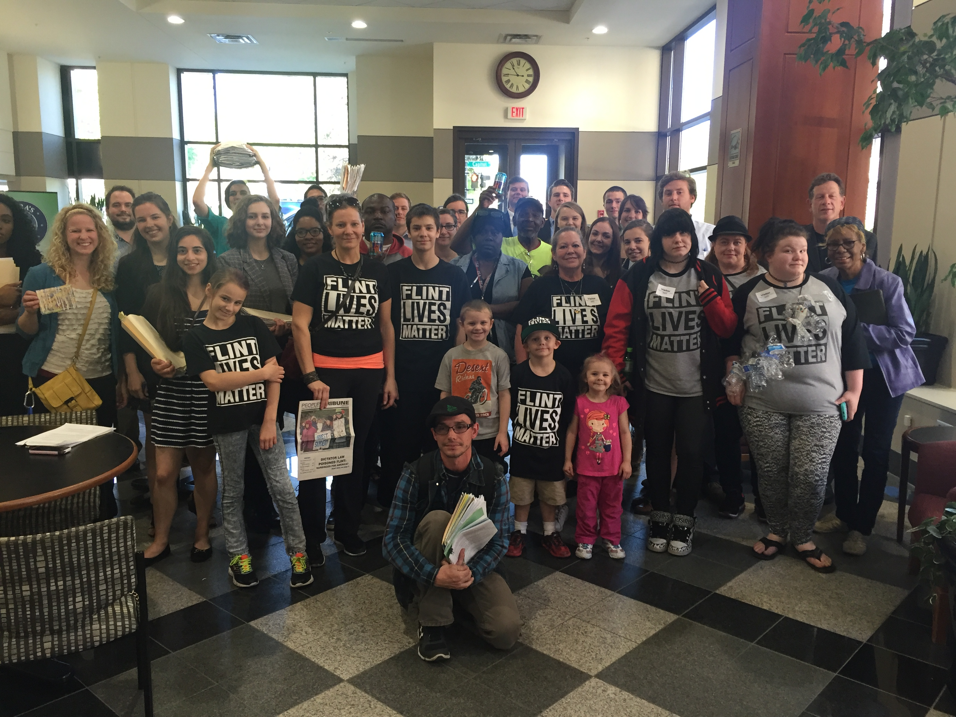 Clean Water Action with Flint Rising at the Capitol