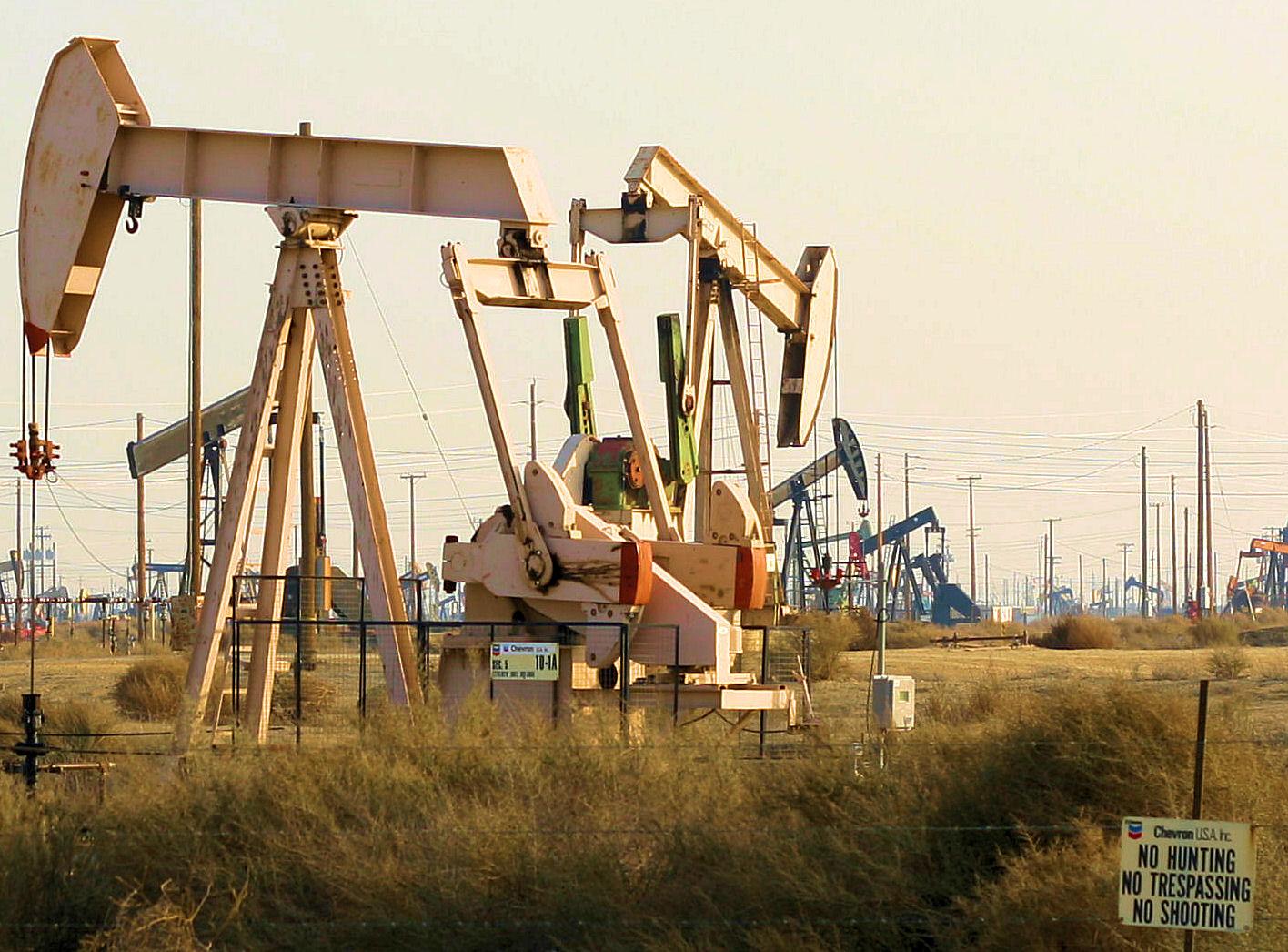 Pumpjack at the Lost Hills Oil Field