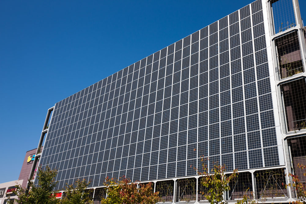 Solar Panel On Side Of Building : Urban planning in the age of climate change clean water