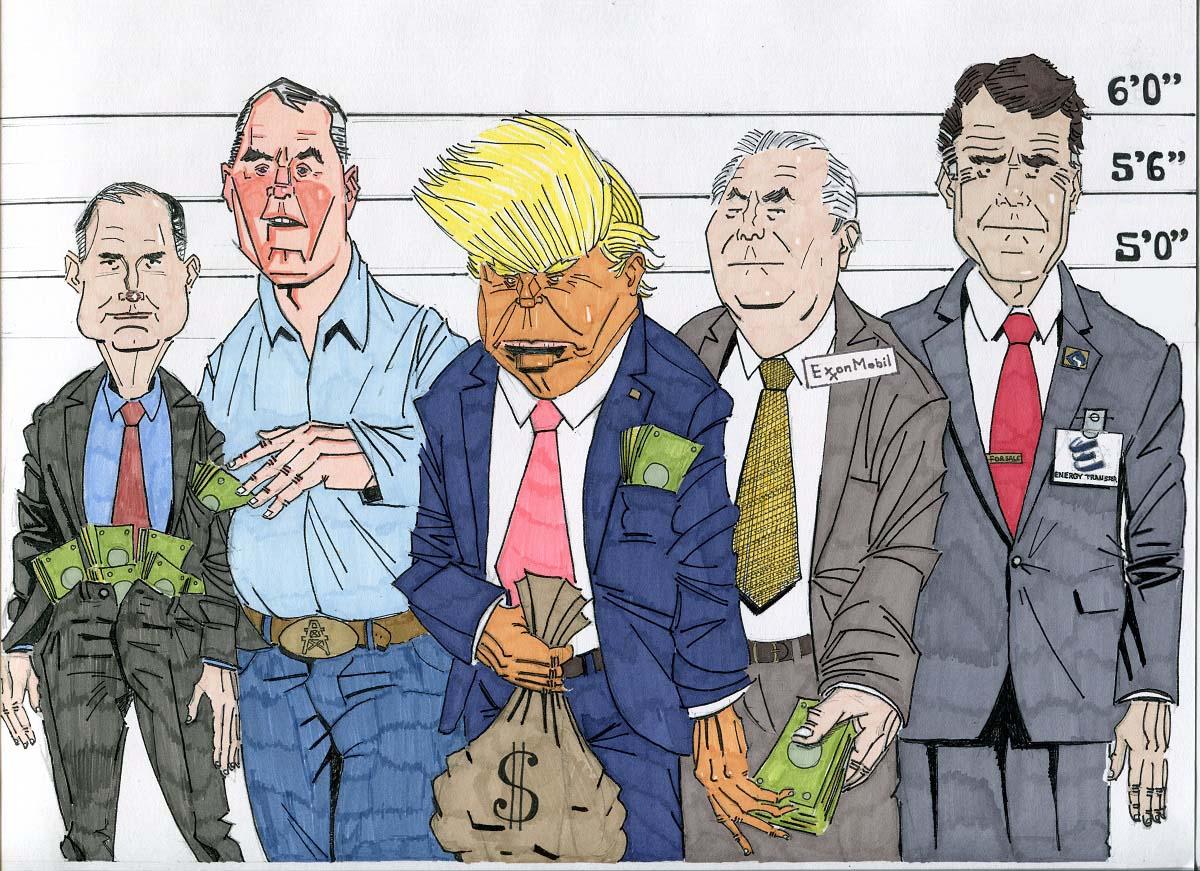 Trump's Cabinet / Illustration by Jan Comport