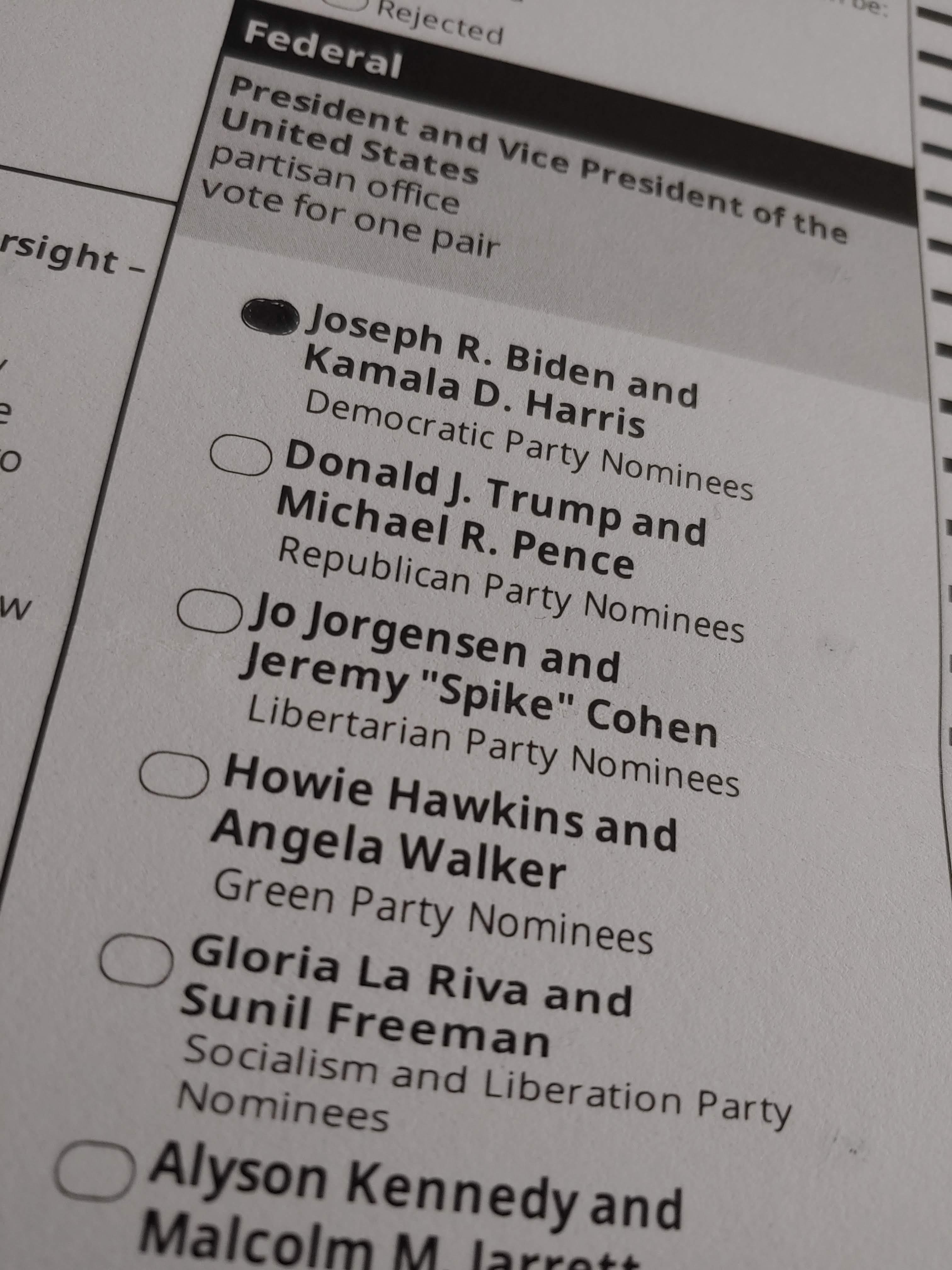 Vote for Biden/Harris