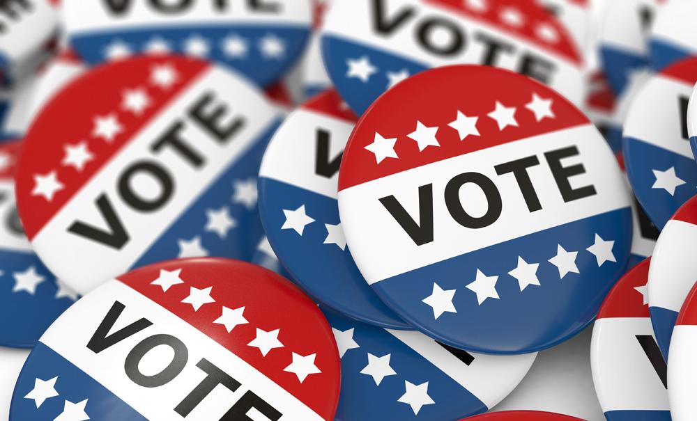 Vote pins. Credit: luismmolina / iStockPhoto