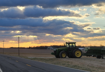 Montgomery County's Agricultural Reserve at sunrise