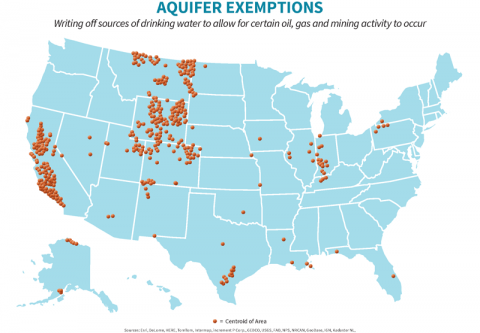 Sacrificing Water For Oil And Gas Profit Clean Water Action - Map of aquifers in us