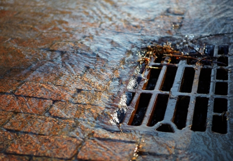 photo: stormwater drain, shutterstock.com