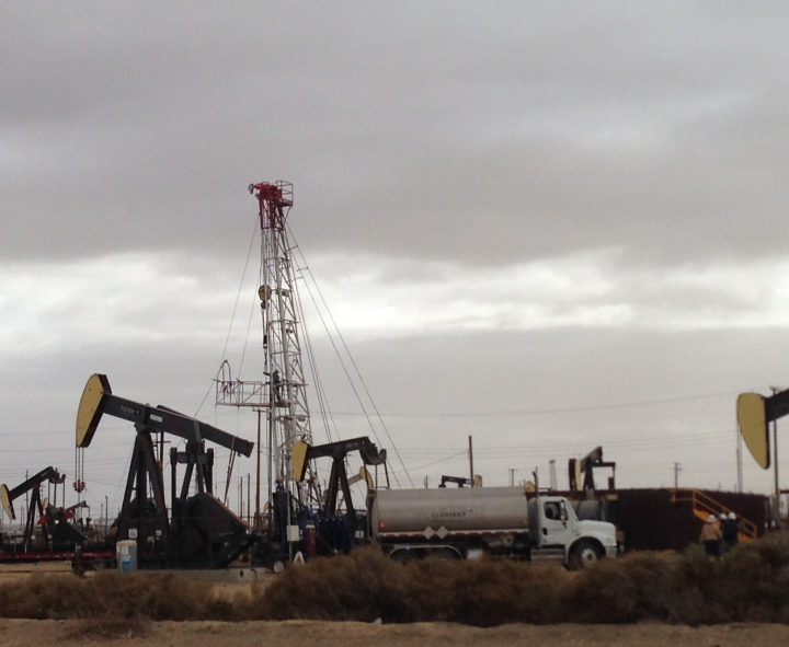 A drilling rig at Lost Hills, CA