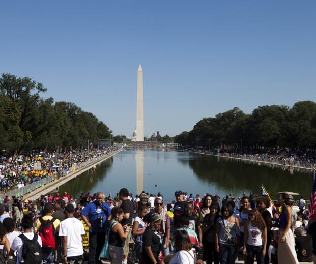 Rally at Reflecting Pool in DC. Credit: Diane Diederich / iStockphoto