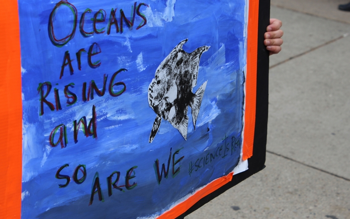 """""""Oceans are rising and so are we."""" photo: Clean Water"""
