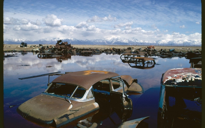 Polluter water, cars. Courtesy of Documerica