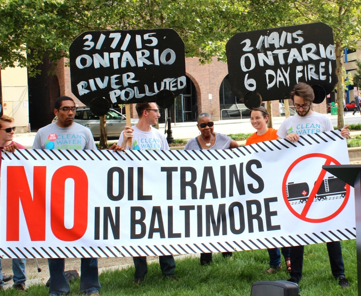 Oil Trains Baltimore by jennifer kunze