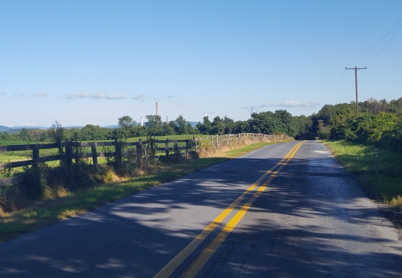 Rural Road on the Montgomery/Frederick County border