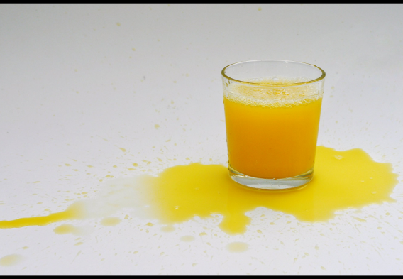 Spilled orange juice -- crtedit Martin Brigden (Flickr -- Creative Commons)