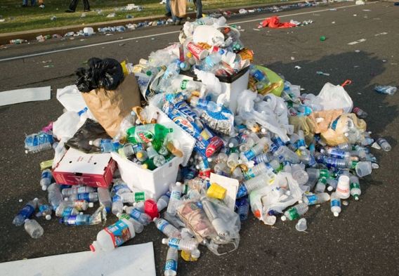 A pile of waste after an event. Photo credit: Joseph Sohm / Shutterstock.com